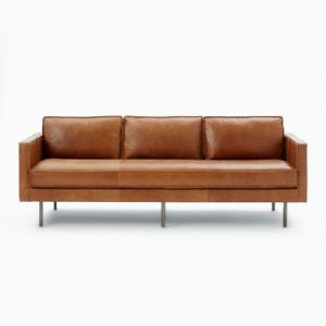 GENUINE LEATHER OFFICE SOFA